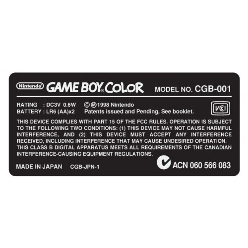 Nintendo GBC Game Boy Color...